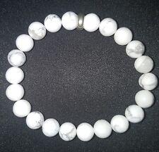 Howlite 8mm Bead bracelet