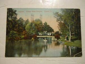 Vintage Postcard Toledo State Hospital Insane Asylum 1911