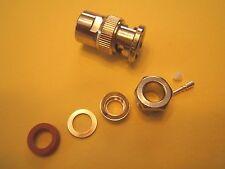 (3) AMPHENOL 31-212 / UG260 B/U. MALE CLAMP BNC 50 OHM-500V  RF CONNECTOR. NOS