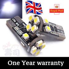 10x T10 CAR BULBS LED ERROR FREE CANBUS 8SMD XENON WHITE W5W 501 SIDE LIGHT BULB