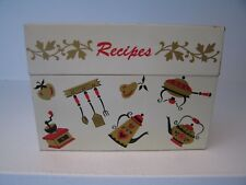 "Vintage Ohio Art Metal Recipe Box, 3"" x 5"" cards"