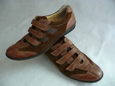 PAUL GREEN Mens Athletic Oxford Sz 7 Brown Suede Leather Sneakers Velcro