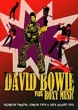 DAVID BOWIE ZIGGY STARDUST  ROXY MUSIC - CONCERT POSTER RAINBOW LONDON 1972 (A3)