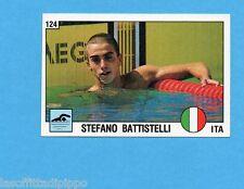 SUPERSPORT 1988-PANINI 88-Figurina n.124- BATTISTELLI - ITALIA -NUOTO-NEW