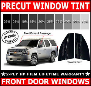 2ply HP PreCut Film Front Door Windows Any Tint Shade VLT for Chrysler Glass