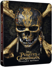 Pirates of the Caribbean 5 3D OOP EMBOSSED STEELBOOK Region-Free Import Blu-ray