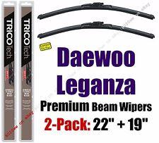 Wipers 2 Pack Premium Wiper Beam Blades fit 1999-2002 Daewoo Leganza - 19220/190