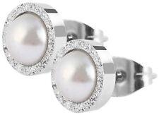 Mode-Ohrschmuck aus Edelstahl mit Perle für Damen