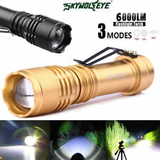1200LM Mini CREE Gold colour Q5 LED Flashlight Torch Adjustable Focus Zoom Light
