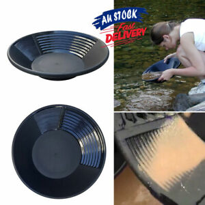 15 inch Estwing Gold Pan Black Prospecting Panning 38.5cm Geological Plastic