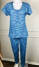 Missoni for Nordstrom Women's 2 PC Suit Pants Shirt Blue Italy ~ Sz M L EU 40 ~