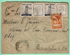 CAPE VERDE FATIMA pairs on 1952 Cover > Philadelphia 4$80 Rate SCARCE