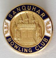 Sanquhar Bowling Club Badge Pin Rare Vintage UK (M19)