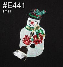 1 pcs Snowman embroidered applique