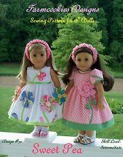 "SEWING PATTERN for 18""  American Girl Dolls  / SWEET PEA by Farmcookies Designs"