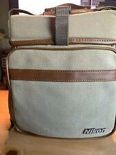 Vintage Nikon Canvas and Leather Field Camera Bag (Green)