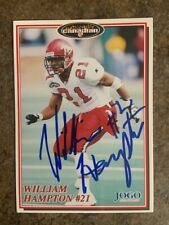 signed in person  WILLIAM HAMPTON  CFL  CALGARY STAMPEDERS  JOGO # 207 1997