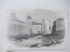 1870 Europa France Metz Fortifications Architecture Antique Print
