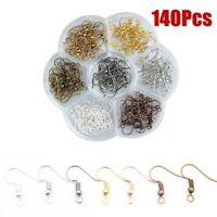 140 Pcs Earring Hooks Ear Wires French Hooks Hypoallergenic Stainless Steel US