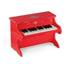 Viga Children's/Kids Wooden Red Wooden Piano w/ Music Book