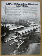 1972 Bonnie Castle Yacht Basin photo Phillips Pier 66 Marinas vintage print Ad