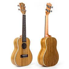 "Kmise Zebrawood Concert Ukulele 23"" Hawaii Hawaiian Guitar With Aquila String"