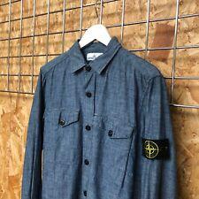 £259 Stone Island Denim Chambray Shirt/ Overshirt M MEDIUM (S SMALL?) jacket