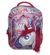 "Emojination 16"" Unicorn Love Kids' Backpack Pink NWT Back To School BTS"