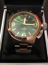 TW STEEL: CB61. CANTEEN. Green Face. Gold & Silver. 45mm. BNWT. 50 Percent Off