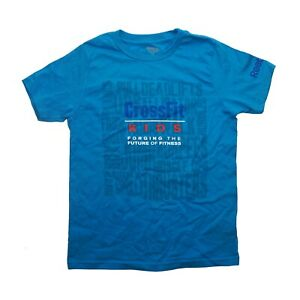 """Reebok CrossFit Boys Youth Blue """"Forging the Future Of Fitness"""" T-Shirt"""