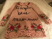 Dolce and Gabbana I love you Mamma sequin Dress retails for 12k size 44 NWT!