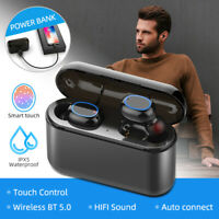 LED Bluetooth 5.0 Headset TWS Wireless Earphones Mini Stereo Headphones Earbuds