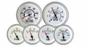 White Sterling 6 Gauge Kit with GPS Speedometer VeeThree