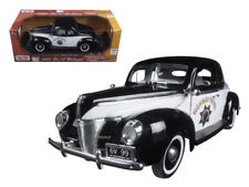 1/18 MotorMax 1940 Ford Deluxe Coupe California Highway Patrol CHP Police 73108