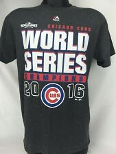 CHICAGO CUBS 2016 WORLD SERIES CHAMPS Majestic T-SHIRT SIZE Medium