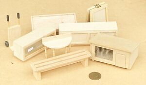 Variety Of Handmade Wooden Items Tumdee 1:24 Scale Dolls House Miniature ML D&A