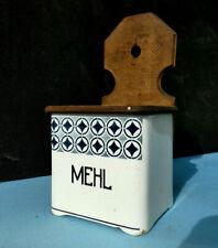 Alter Vorratsbehälter Mehl Keramik Holzdeckel