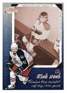 Rick Nash Columbus Blue Jackets 2004 McDonald's Pacific Checklist Hockey Card