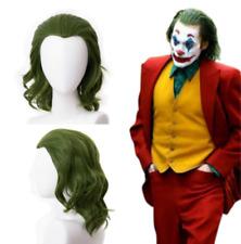 2019 Joker Arthur Fleck Joaquin Phoenix Cosplay Wig Curly Green Hair 35cm