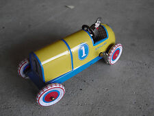 """Schylling Toys Tin Litho Old Fashion Race Car Winup Toy 5 3/4"""" Long"""
