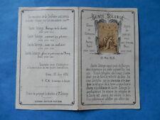 IMAGE PIEUSE HOLY CARD sainte solange berry bonamy priere biographie   thfr