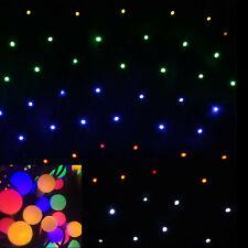 Multi Colour Mini Balls Solar Net Flashing Outdoor Christmas Tree Lights 150 LED