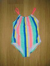 M/&S UPF50 cloro resistere a righe Swim Suit 2-3y 4-5y 5-6y Bianco Mix NUOVO CON ETICHETTA