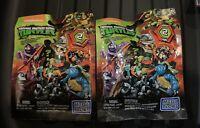 Lot Of 2 TMNT Mini Figure Assortment Series 2 Mega Bloks Nickelodeon
