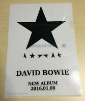 David Bowie Blackstar PROMO Clear File ONLY Japan Limited NO Blu-spec CD Digipak