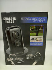 Sharper Image Electronic Key Finder  Portable 45 Foot Range Black Two Fobs