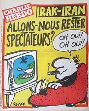 CHARLIE HEBDO N° 515 de SEPT 1980 GUERRE IRAN IRAK RESTERONS NOUS SPECTATEURS