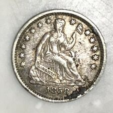 1858 Seated Liberty Half Dime Silver Coin United States