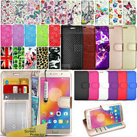 For Lenovo Mobile Phones - Wallet Leather Case Flip Book Cover+ Screen Protector