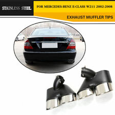 Rear Exhaust Muffler Pipes Tip Stainless Steel Fit for Mercedes Benz W211 02-08